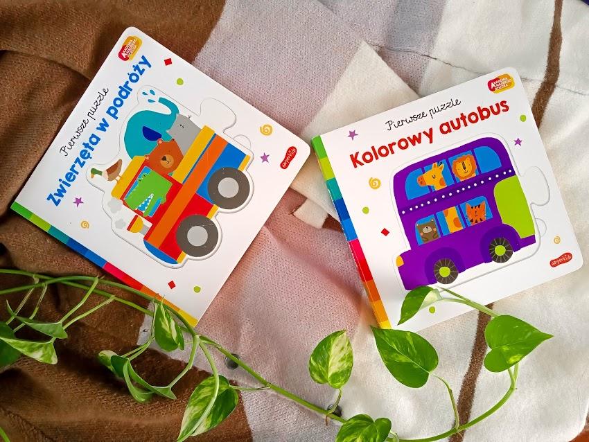 """Moje pierwsze puzzle """"Zwierzęta w podróży"""", """"Kolorowy autobus"""""""