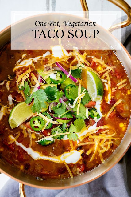 ONE POT STOVETOP VEGETARIAN TACO SOUP