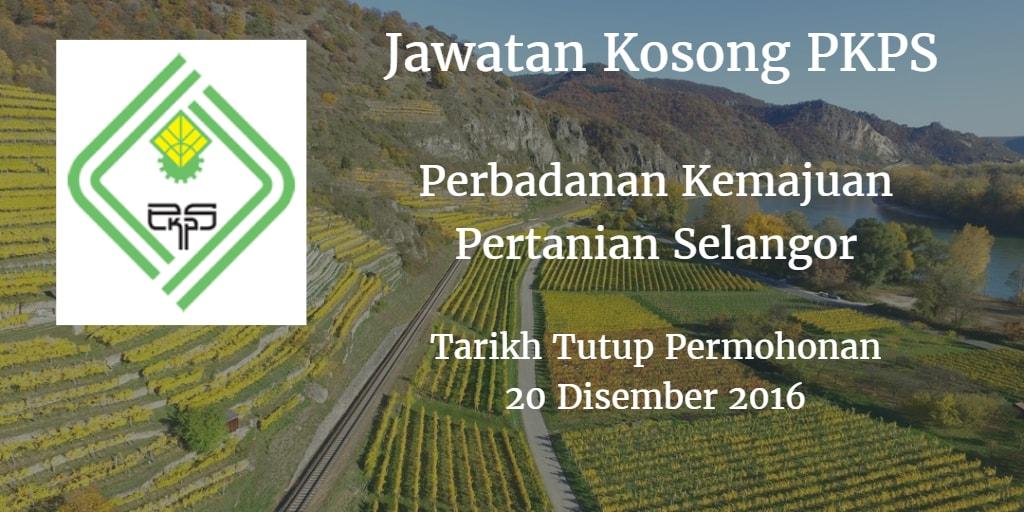 Jawatan Kosong PKPS 20 Disember 2016