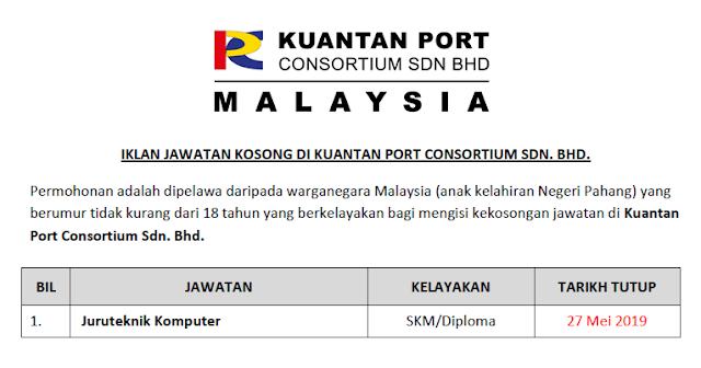 jawatan kosong kuantan port