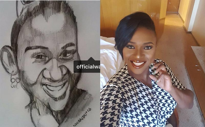 Checkout this drawing of singer Waje by a fan