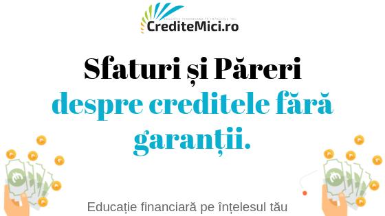 credit fara garantii
