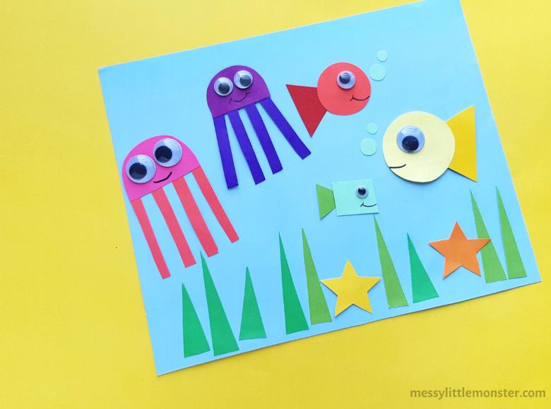 ocean shape craft for kids
