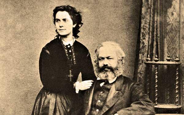 Karl Marx et sa fille Jenny