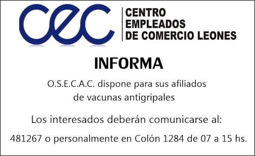 ESPACIO PUBLICITARIO: CENTRO EMPLEADOS DE COMERCIO DE LEONES