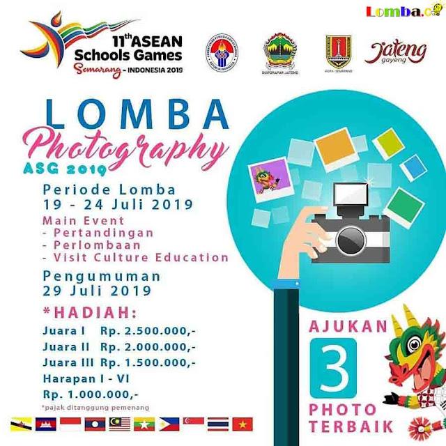 Lomba Fotografi Asean School Games 2019 Untuk Umum Gratis
