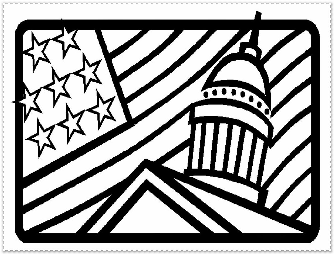 hight resolution of Coloring pages for presidents day
