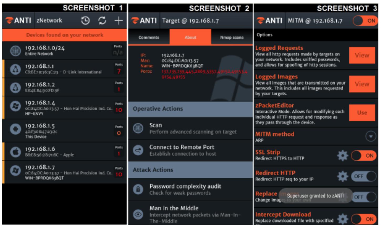 Hack Wi-Fi Network Using zANTI In Android Device/Smartphone