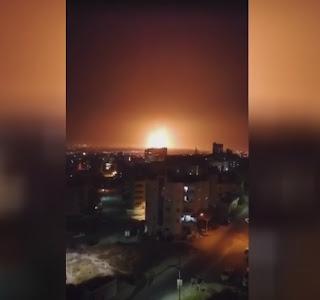 انفجار في مستودع للذخيرة بمنطقة معزولة شرقي مدينة الزرقاء