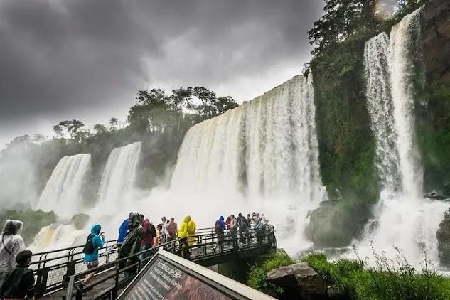 Iguazu Falls borders Argentina and Brazil