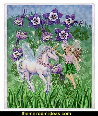 Fairy Unicorn Throw Blanket - Standard Multi-color
