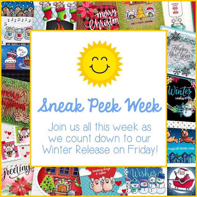 Sunny Studio Stamps: Winter 2019 Sneak Peek Week featuring cards, tags and gift bags from our Christmas Holiday Release