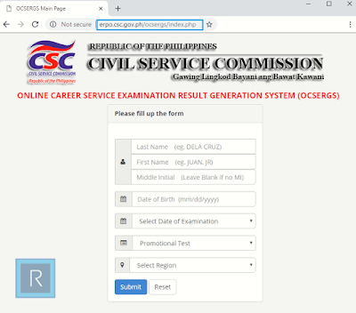 List Of Passers For Civil Service Exam Results CSE-PPT