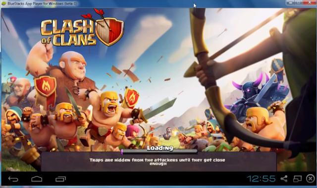 giả lập clash of clans trên máy tính
