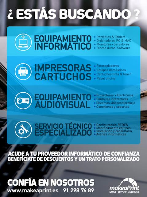 Make a print : venta de equipos informáticos y de impresión. Servidores. Redes. Servicio Técnico Informático