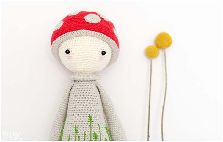 amigurumi paul the toadstool by lalylala