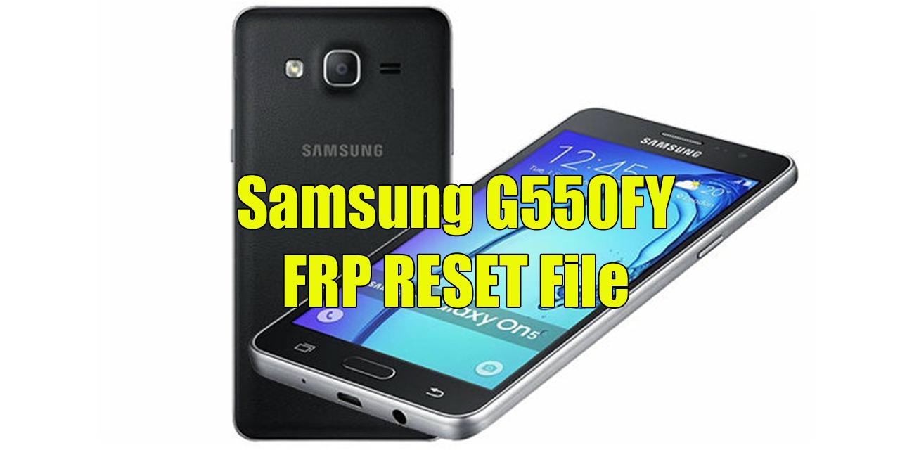 Samsung G550FY FRP reset file