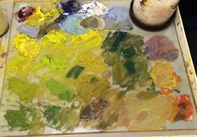 oil painting palette
