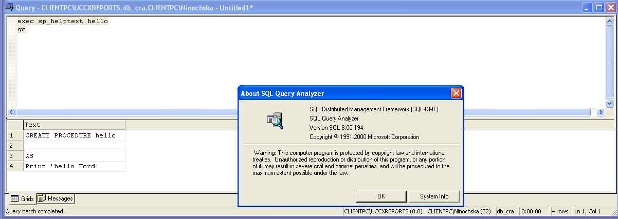 how to create sp in sql server