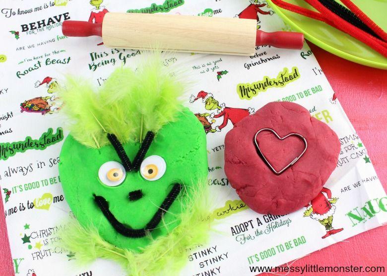 Christmas Grinch playdough recipe