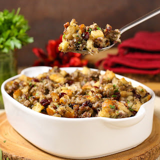 Sausage Cranberry Apple Stuffing Recipe