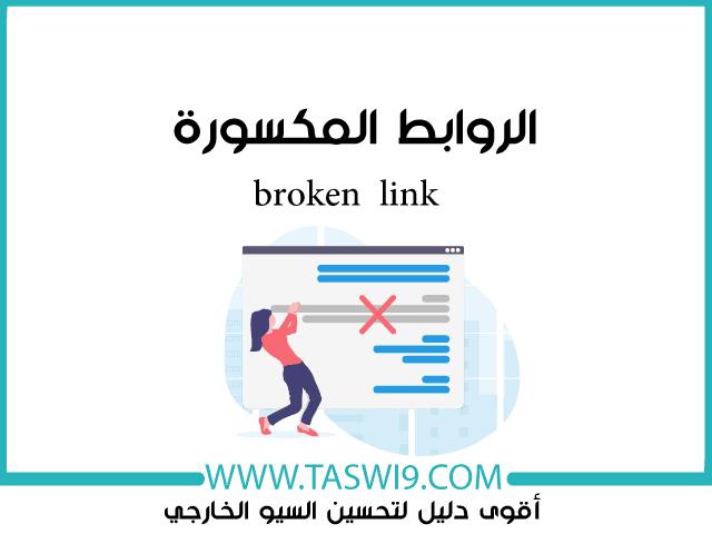 الروابط المكسورة broken link