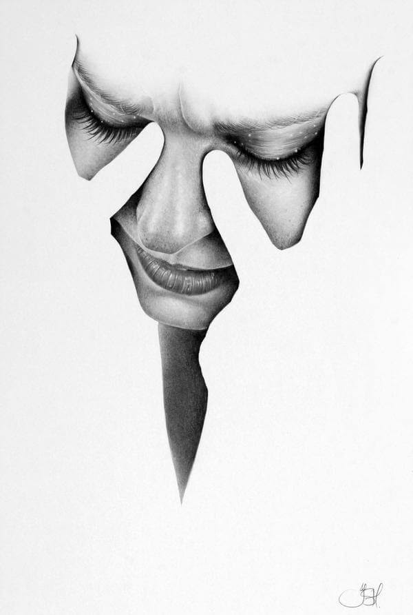 09-Fragments-Lou-Ileana-Hunter-Drawings-of-Minimalist-Realism-Meets-Celebrities-www-designstack-co