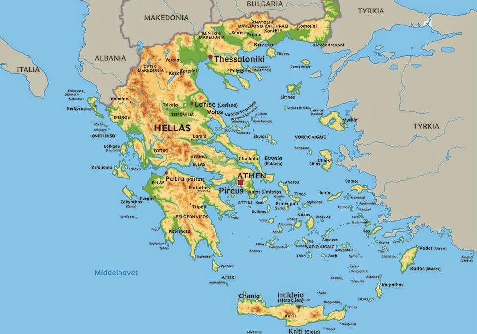kart over rhodos Y T R I N G S S T E D E T: GRESKE ØYER NESTE kart over rhodos