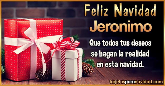 Feliz Navidad Jeronimo