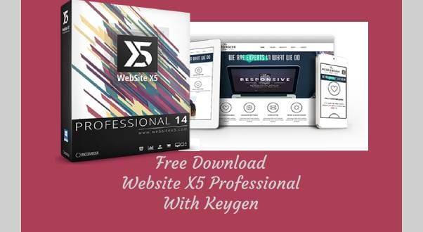 Download WebSite X5 Professional full crack