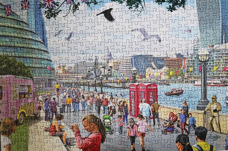 Falcon de Luxe - River Thames London 1000 Puzzle