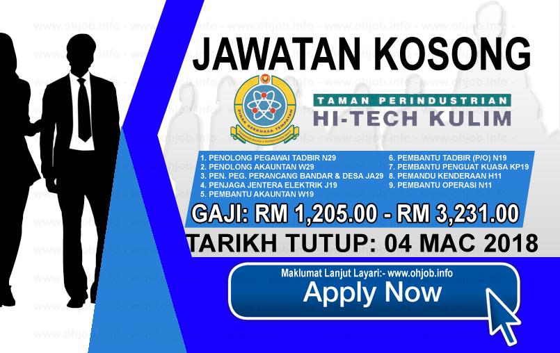 Jawatan Kerja Kosong Pihak Berkuasa Tempatan Taman Perindustrian Hi-Tech Kulim logo www.ohjob.info mac 2018