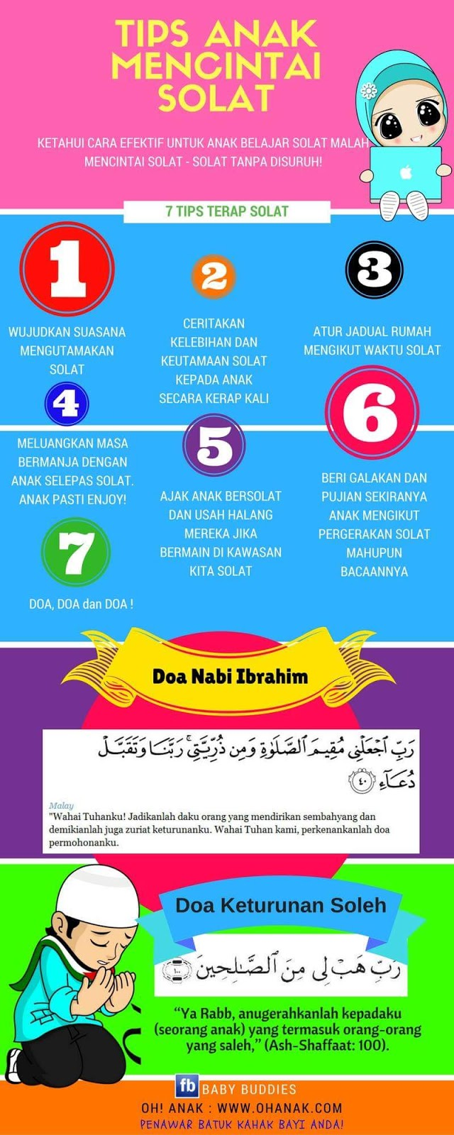 [INFO GRAFIK] Tips Didik Anak Suka Solat!