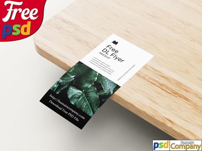Download Free DL Flyer PSD Mockup #2