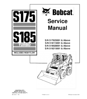 Bobcat Manual Download : BOBCAT S175, S185 SKID STEER