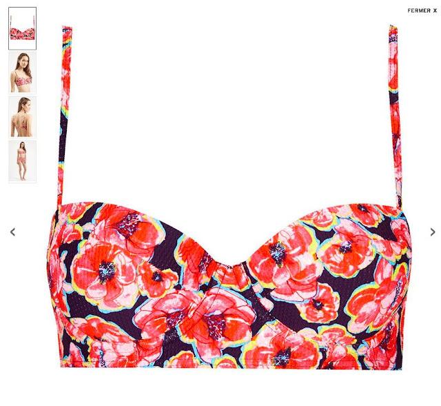 bikini fleurs topshop