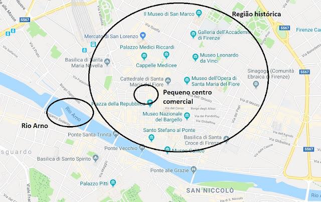 Divisão turística de Florença