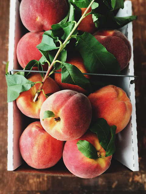 August 2017 Favorites: freshly picked peaches
