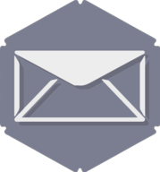mail hexagon icon