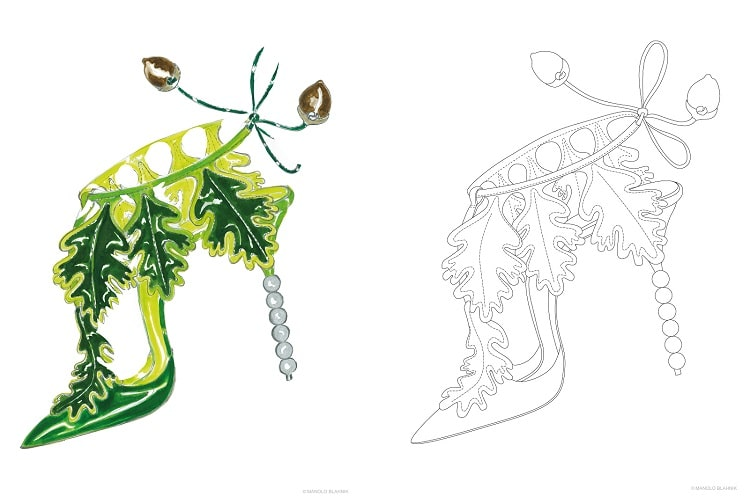 Manolo Blahnik free coloring pages