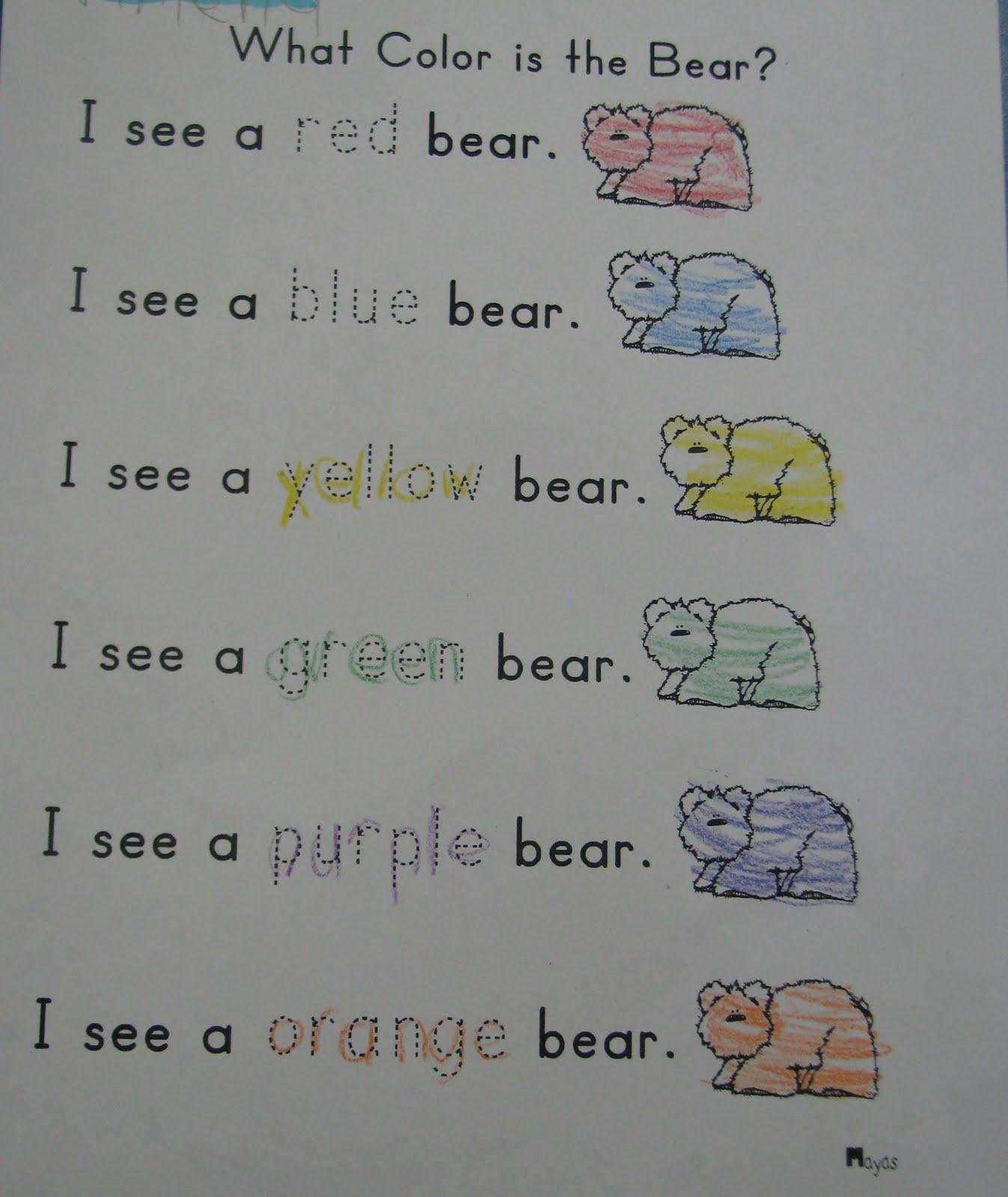 Mrs Mayas Kindergarten Brown Bear Part Iii