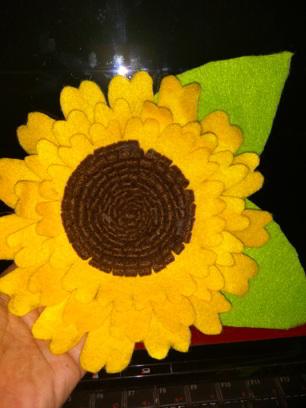 Diy Tutorial Membuat Bunga Matahari Dari Kain Flanel Lemaripojok