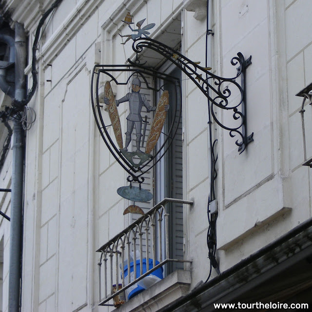 Hanging sign over a bakery, Loches, Indre et Loire, France. Photo by Loire Valley Time Travel.