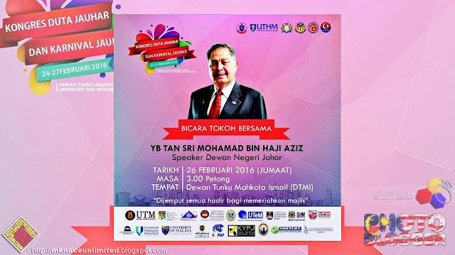 KONGRES DUTA JAUHAR : Bicara Tokoh Bersama YB Tan Sri Mohamad Bin Haji Aziz