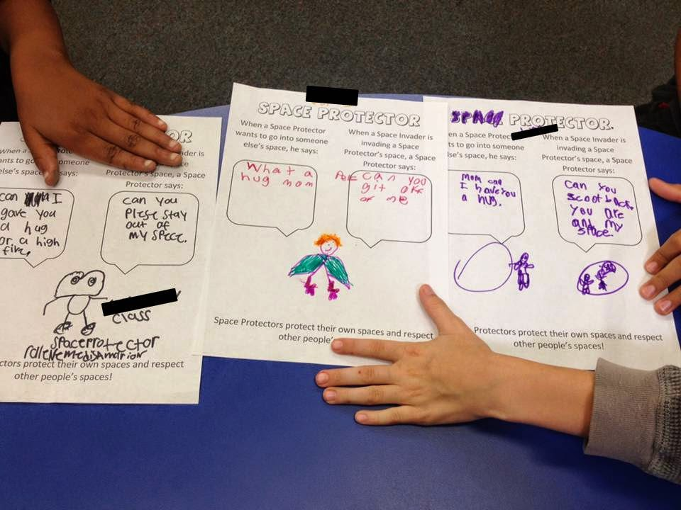 social skill personal space worksheet for elementary students