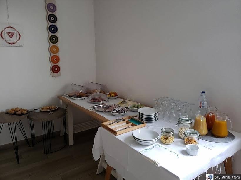 Café da manhã no Hotel Infusion - onde ficar em Óbidos