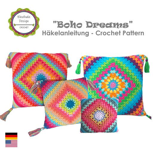Häkelanleitung Boho Dreams Kissen PDF