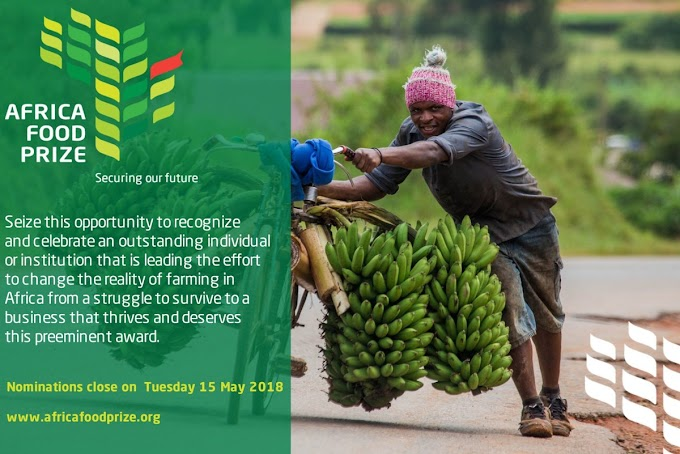 ENTER THE AFRICA FOOD PRIZE COMPETITION 2018