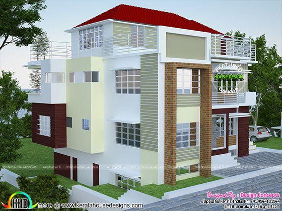 Multi Family 4 Plex Home Plan Kerala Home Design And Floor Plans