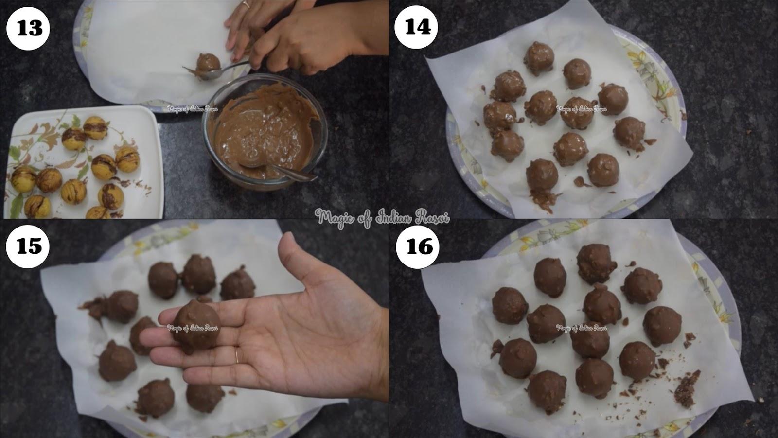 Ferrero Rocher Chocolate Recipe - फरेरो रोचेर चॉकलेट घर पर बनाये - Priya R - Magic of Indian Rasoi